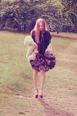 the secret garden (Saga) Tags: fashion digital canon vintage magazine fur alice feather 10d heels editorial beyond sig wonderland saga chanel mag lurve