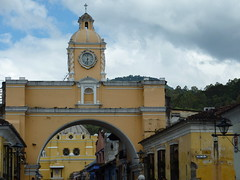 Leaving Antigua... the towns main arch.