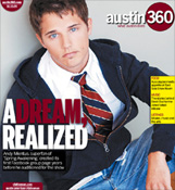 Andy Mientus on cover of Austin 360