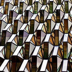 m-8611 Reflecting on Facets (tengtan (away awhile)) Tags: detail glass reflections pattern geometry perspective shapes repetition facets variation teng 500x500 superaplus aplusphoto geometrictonalvision platinumheartaward tengtan