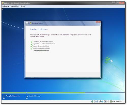 Windows seven, instalación