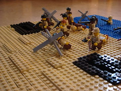 D-Day (Arcon.) Tags: lego wwii german americans dday mg42 operationoverlord brickarms brickforge
