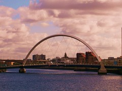 City of Glasgow Cityscape (stuartpaterson) Tags: city bridge panorama building tower art skyline architecture modern river scotland clyde edinburgh ship cityscape glasgow arts science civic