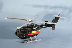 it's black! (psiaki) Tags: lego aircraft helicopter redux moc mbb bo105