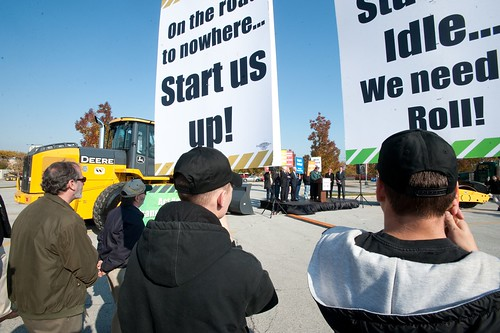 Workers Rally for Jobs