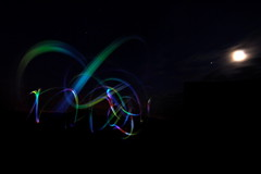 Lights in the Night (Will Nicholls mac) Tags: moon colour stars lights iphone strangelights