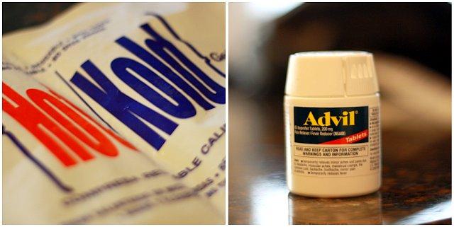 gel pack and advil