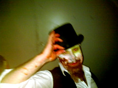 harlequinade1 (Weaponizer) Tags: music texture halloween metal underground edinburgh experimental creativecommons gigs techno hiphop tickle 2009 launchparty dubstep freemusic netlabel wraiths linzhang burningbright henryscellarbar sileni harlequinade behindthelight neverzone blacklantern sectarouge salemanders morphamish monosynthorchestra weaponizer urgemode blacklanternmusiccom