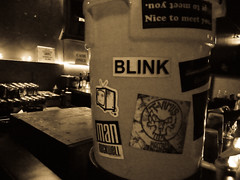 Blink & Slightlynorth (xlungex) Tags: water bar market stickers showbox blink sn slightlynorth