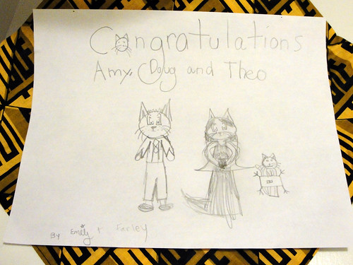 congratulations from emily and farley [the cat]