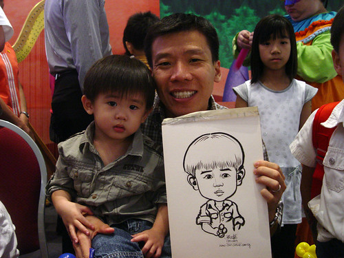 Caricature live sketching for Marina Square X'mas Tenants Gathering 2009 - 11