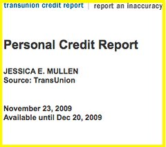 FINALLY GOT MY CREDIT REPORT