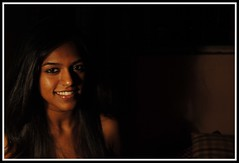 pk-2 (eopath) Tags: lighting light portrait woman india lamp girl beautiful smile face fashion wall sepia dark hair happy photography photo nice eyes nikon glow 10 indian picture posing pic calm human frame features dslr dusky vr megapixel d60 nikond60 ladp eopath