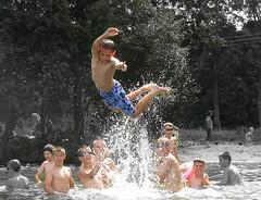 flying school (raphic :)) Tags: portrait lake children lumix flying play young poland polska panasonic zabawa dzieci latanie jezioro raphic modzi fz8 dmcfz8 krzewy