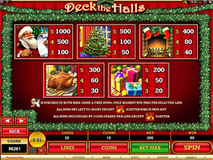 free Deck the Halls slot mini symbol