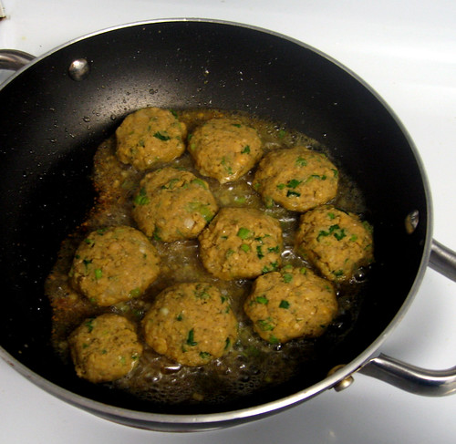 dinner - falafel (cooking)