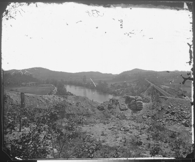 Allatoona Pass from the Etahwa River Ga1864 by The US National Archives