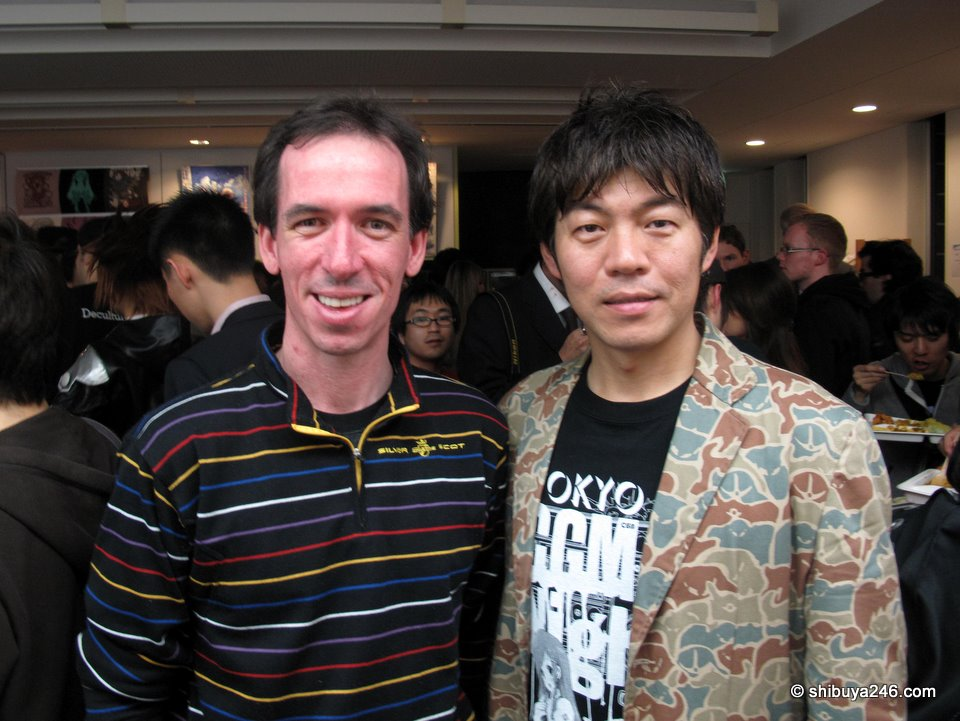 Me and Hashimoto-shacho, the boss of Cospa.