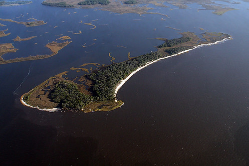 Aerial View of Deer Island of the Lower Suwannee NWR
