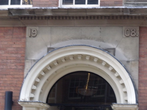 65 Church Street, Birmingham - arch and 1908 (former Diocesan Lodge of the Girls