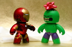 HULK ANGRY! HULK NO LIKE RED! (chanchan222) Tags: christmas xmas toys 350d ironman tony hulk stark figures canonrebelxt pvc vinly sdcc hulksmash danchan danielchan mightmuggs chanchan222 wwwchanofamericacom chanwaibun httplifeofplasticcom