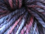 BLUEBERRIES FOR SAL -  handspun rambouillet yarn - kettle dyed -  230 yards
