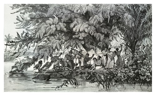 020- Pescadores en la costa de jlheos-Sabatier- Viagem pitoresca através do Brasil 1835