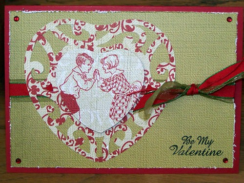 Valentine Card With Marks Paper