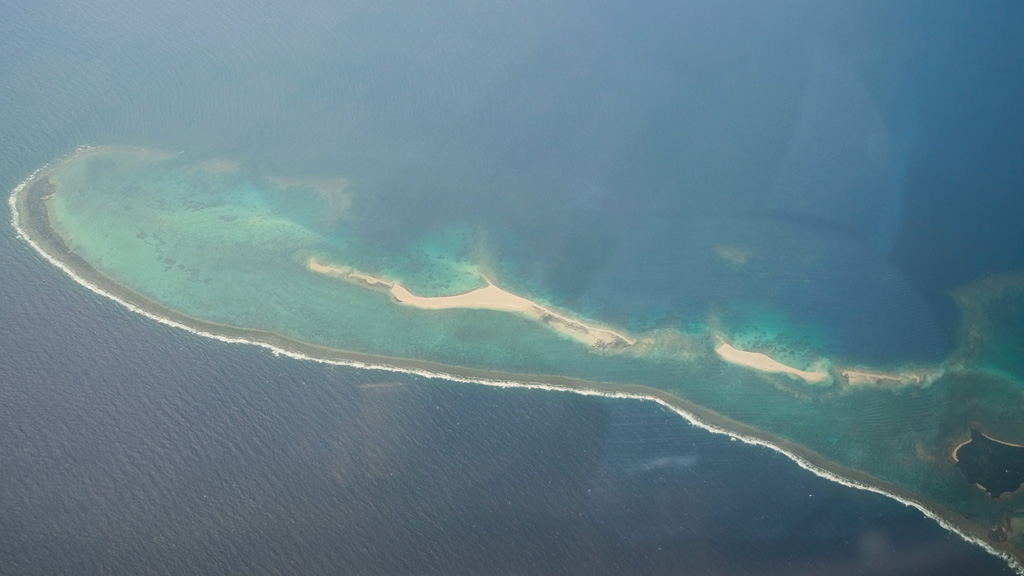 Hateno Beach (Sky Holiday Reef) from the air