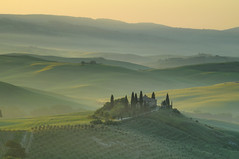 San Quirico d'Orcia - Belvedere (bautisterias) Tags: italy green landscape europe italia wheat tuscany fields cypress pienza toscana valdorcia orcia