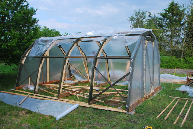 "building a ""temporary"" greenhouse"