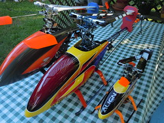 My Little Fleet (Blue'sFolly) Tags: align rchelicopter 450pro trex600esp
