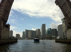 Downtown Miami from Port of Miami Bridge