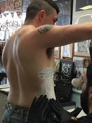 Ancient Art Tattoos in Hampton, Virginia (Tobyotter) Tags: armpit inked tattoo shirtless male