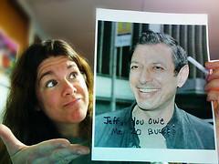 138/365PB Jeff Goldblum Fakes His Own Death (Lainey1) Tags: jeff dead funny photobooth humor actor bet jeffgoldblum fakedeath goldblum notdead colbertreport 20bucks