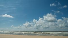 Dutch Clouds (Donna Nadia) Tags: sea sky beach clouds strand north noordzee wolken heemskerk flickrexportdemo