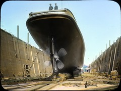 Tug boat in dry dock