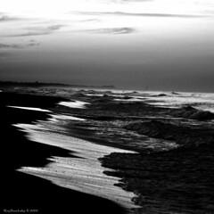 Constant, Relentless (raisinsawdust - (aka: tennphoto)) Tags: ocean bw beach square sand nikon surf waves florida shoreline earlymorning constant destinfl d90 nikond90