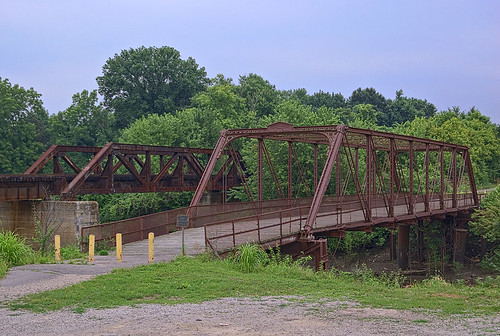 Windsor Harbor Bridge, in Kimmswick, Missouri, USA