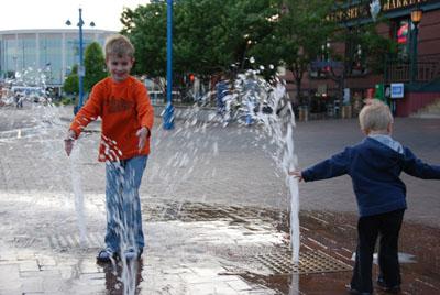 sidewalk fountains