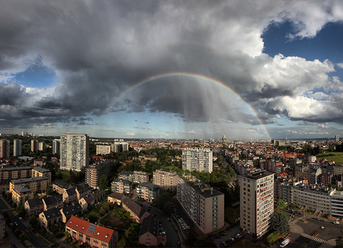 Rainbow over Brussels, Belgium