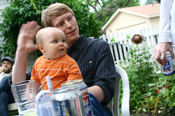 Finn and his Dad @ his 1st Partay