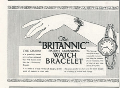 Britannic Ladies Watch Bracelet Ad, 1922