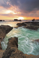 the Sound is still there and the Beat never dies (tropicaLiving - Jessy Eykendorp) Tags: longexposure light sunset sea sky bali seascape seaweed beach nature water silhouette clouds indonesia landscape coast rocks shoreline tanahlot efs1022mmf3545usm outdoorphotography canoneos50d bwcpl tropicaliving hitechfilters rawproccessedwithdigitalphotopro tiffproccessedwithadobephotoshopcs3 melastibeach thesoundisstillthereandthebeatneverdies hitechfilterndgrad