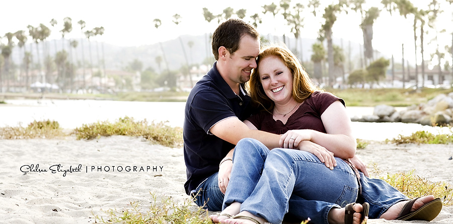 Santa Barbara beach egagement portrait photographer