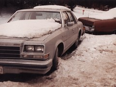 1979 BUICK IN 1988 (richie 59) Tags: winter snow cars film america sedan 35mm outside buick automobile gm 1988 kingston 35mmfilm newyorkstate 1980s oldcars oldpicture automobiles nystate americancars generalmotors hudsonvalley americancar clunkers motorvehicles ulstercounty buicks 4door buicksedan uscar uscars midhudsonvalley fourdoor ulstercountyny 4doorsedan oldbuick beatercar gmcar bbody greycars gmcars greycar americansedan oldbuicks 1970scars 1970scar rustybuick picturescan oldsedan dec1988 1979buick richie59 dec271988 old35mmpictures