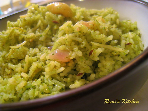 Yummu mint-coconut rice