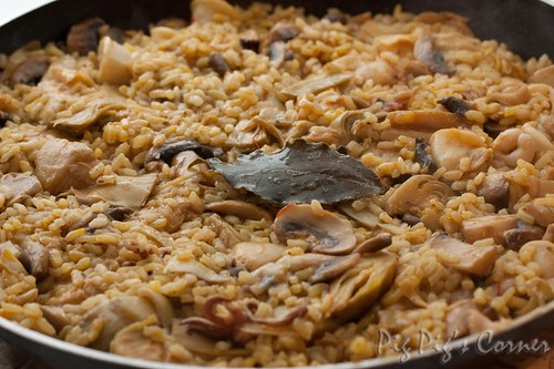 Rice with Mushrooms, Squid & Artichokes 8