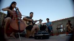 Chellos and Guitars (OrmigAtomica) Tags: barcelona summer music candles rooftops guitar guitarra bcn musica verano chello velas gracia terrados musicrooftops