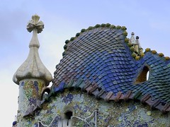 The dragon on the roof (MarcelGermain) Tags: barcelona roof sky house building art architecture geotagged arquitectura nikon colorful europe european dragon cross catalonia gaudi catalunya colourful stgeorge turret casabatll barcelone modernisme artnoveau antonigaud catalogne eixample passeigdegrcia d80 mywinners aplusphoto marcelgermain